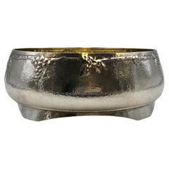 Arts & Crafts Hand-Hammered Silver Centerpiece Bowl by Barbour Silver Co.