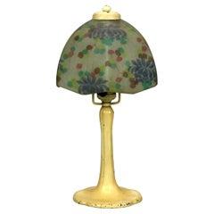 Arts & Crafts Handel Reverse Painted Boudoir Table Lamp, c1920
