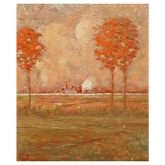 Arts & Crafts Landscape Oil Painting