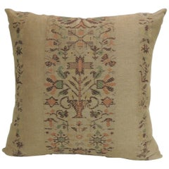 Arts & Crafts Linen Floral Decorative Pillow #2