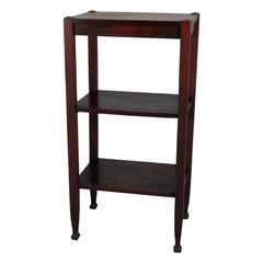Arts & Crafts Mahogany Lakeside Crafters Pottery Display Stand, McMurdle Foot