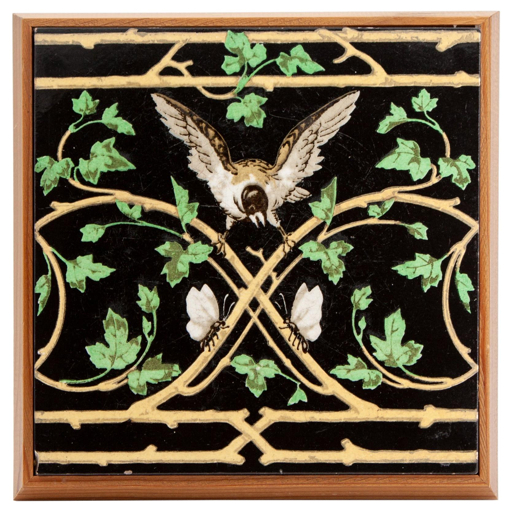 Arts & Crafts Minton Pottery Tile Designed by Christopher Dresser