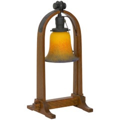 """Arts & Crafts Mission """"Joiner's Compass Desk Lamp"""", Stickley, Signed, circa 2014"""