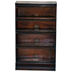 Arts & Crafts Mission Oak Barrister Bookcase by Globe-Wernicke, circa 1920