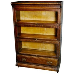 Arts & Crafts Mission Oak Barrister Bookcase, Grand Rapids Co,  1910