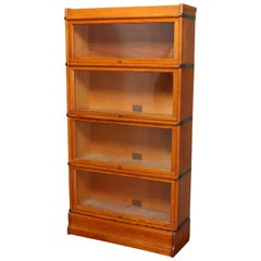 Arts & Crafts Mission Oak Globe-Wernicke 4-Stack Barrister Bookcase, circa 1920