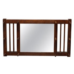 Arts & Crafts  Mission Oak Stickley Brothers Hat Rack & Wall Mirror, Circa 1910