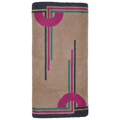 Arts & Crafts Modernism Art Deco Rug Carpet Geometric Purple Navy