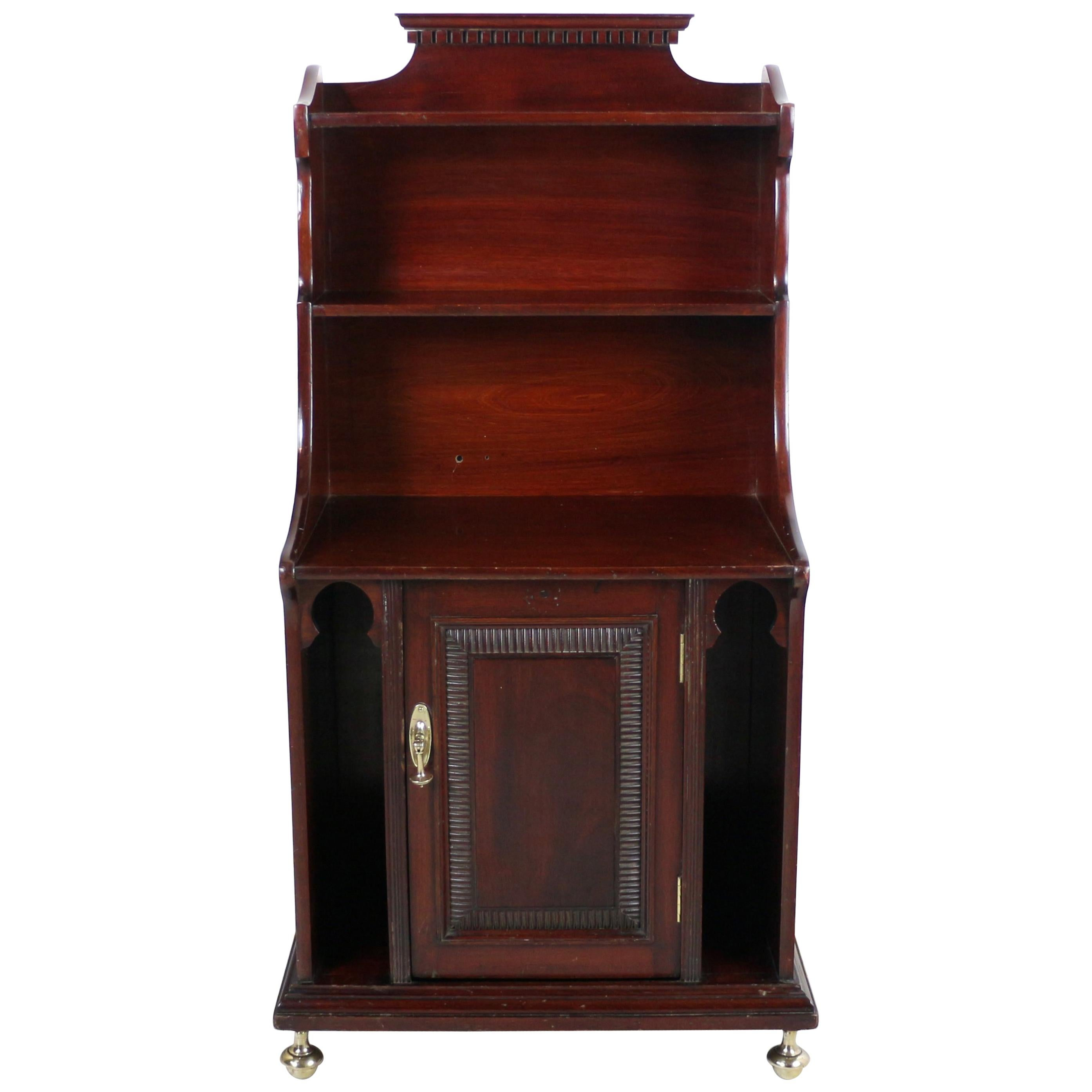 Arts & Crafts Moorish Waterfall Bookcase Cabinet by Shapland & Petter