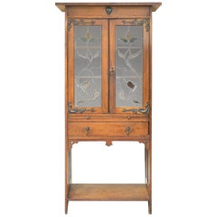 Arts & Crafts Movement Tall Oak Bookcase