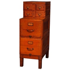 Arts & Crafts Oak 4-Section Stack Filing Cabinet by Shaw Walker, circa 1910