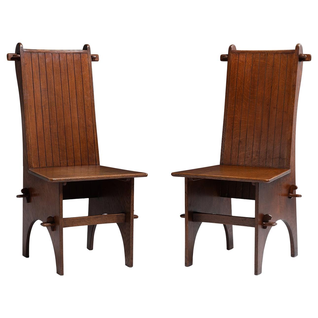 Arts & Crafts Oak Hall Chair