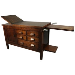Arts & Crafts Oak Medical Examination Table, circa 1910