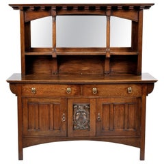Arts & Crafts Oak Sideboard from Liberty London Possibly by Shapland & Petter