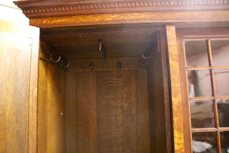 Arts & Crafts Oak Wardrobe Purchased from Liberty & Co. London For Sale 7