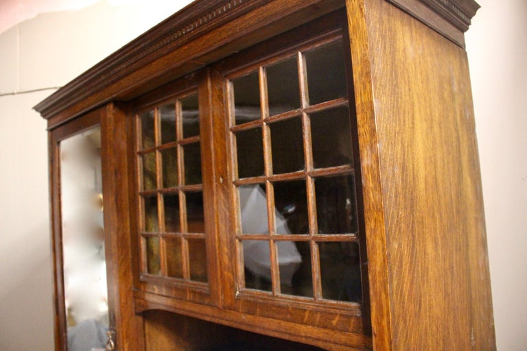 Late 19th Century Arts & Crafts Oak Wardrobe Purchased from Liberty & Co. London For Sale