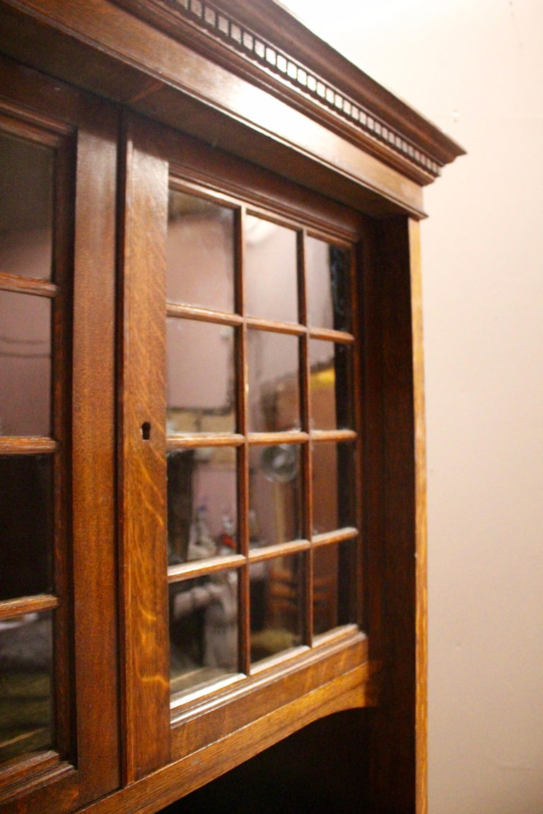 Arts & Crafts Oak Wardrobe Purchased from Liberty & Co. London For Sale 1