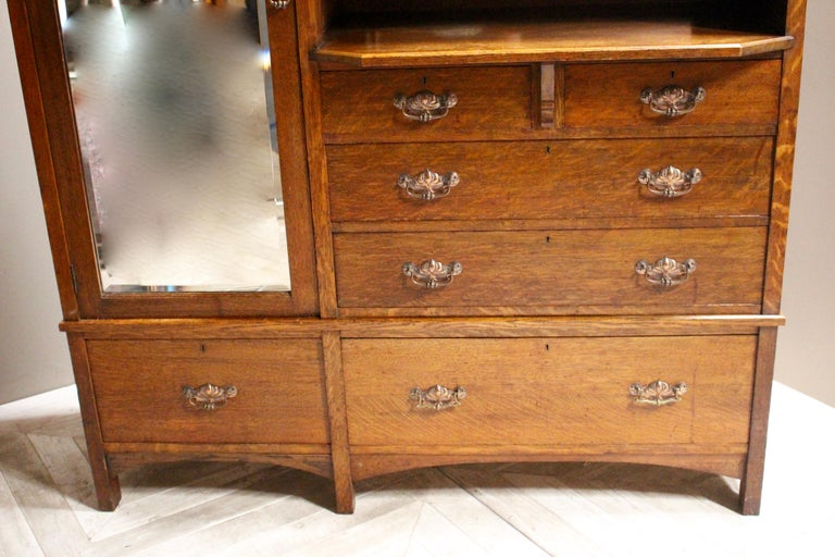 Arts & Crafts Oak Wardrobe Purchased from Liberty & Co. London For Sale 2