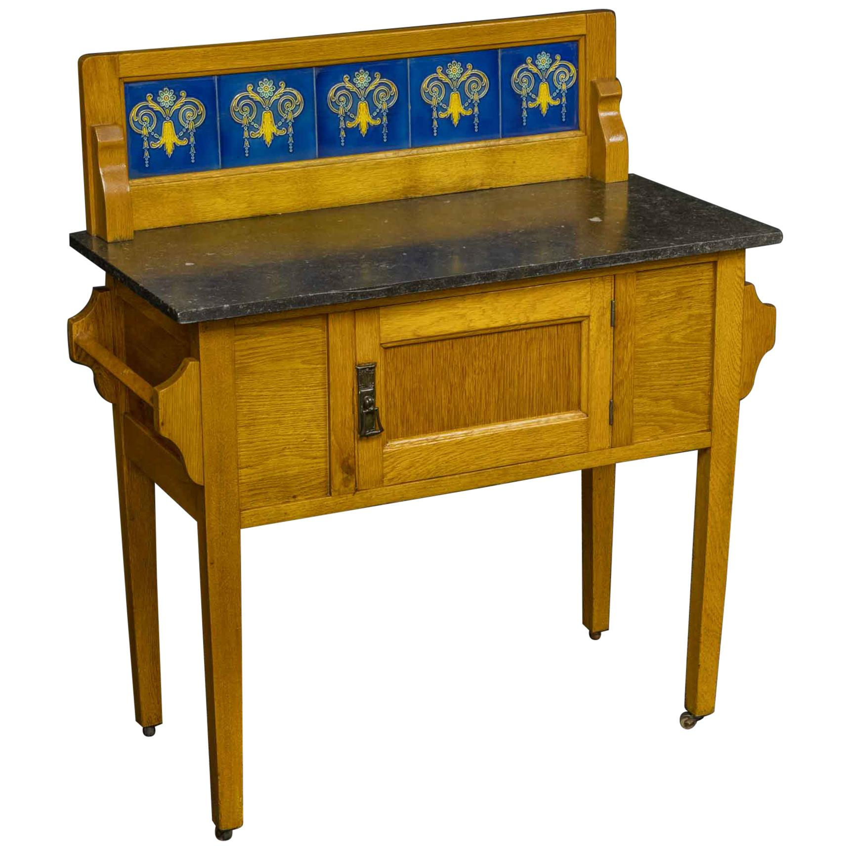 Arts & Crafts Oak Washstand
