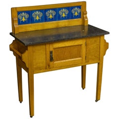 Arts & Crafts Oak Washstand