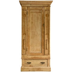 Arts & Crafts Pine Single Wardrobe, Early 20th Century, circa 1910