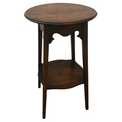 Arts & Crafts Round Side Table from Pioneer Furniture Stores Ltd.