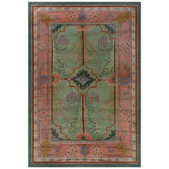 Arts & Crafts Rug by Gavin Morton in Green, Orange, Pink and Purple