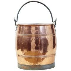 Arts & Crafts Scandinavian Copper Bucket