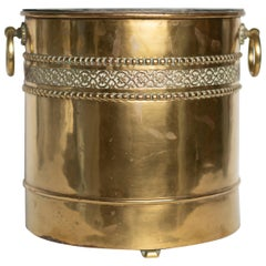 Arts & Crafts Solid Brass Planter with Original Zinc Liner