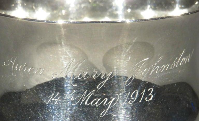 Arts & Crafts Sterling Silver Christening Mug, Hallmarked London 1912  For Sale 2