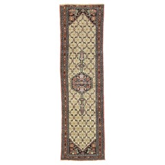 Arts & Crafts Style Antique Persian Assadabad Hamadan Runner, Hallway Runner
