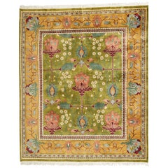 Arts & Crafts Style Indian Wool Rug