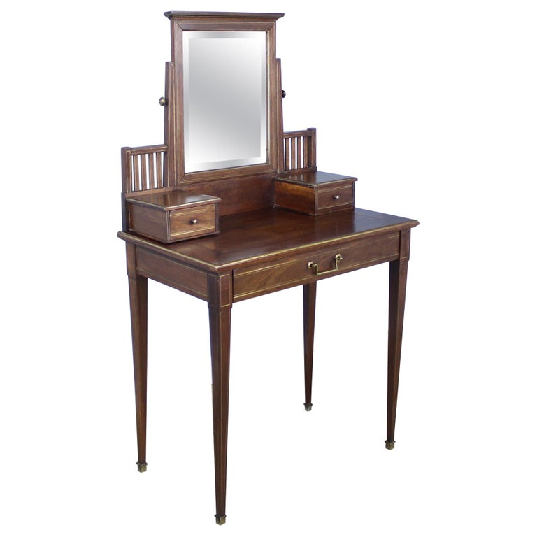 Oak Dressing Table With Br Accents