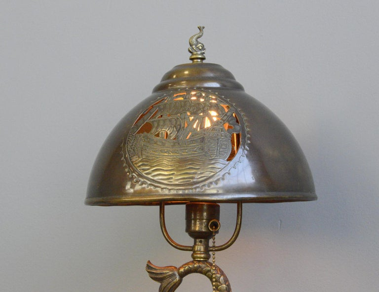 Arts & Crafts Table Lamp, circa 1890 For Sale 1
