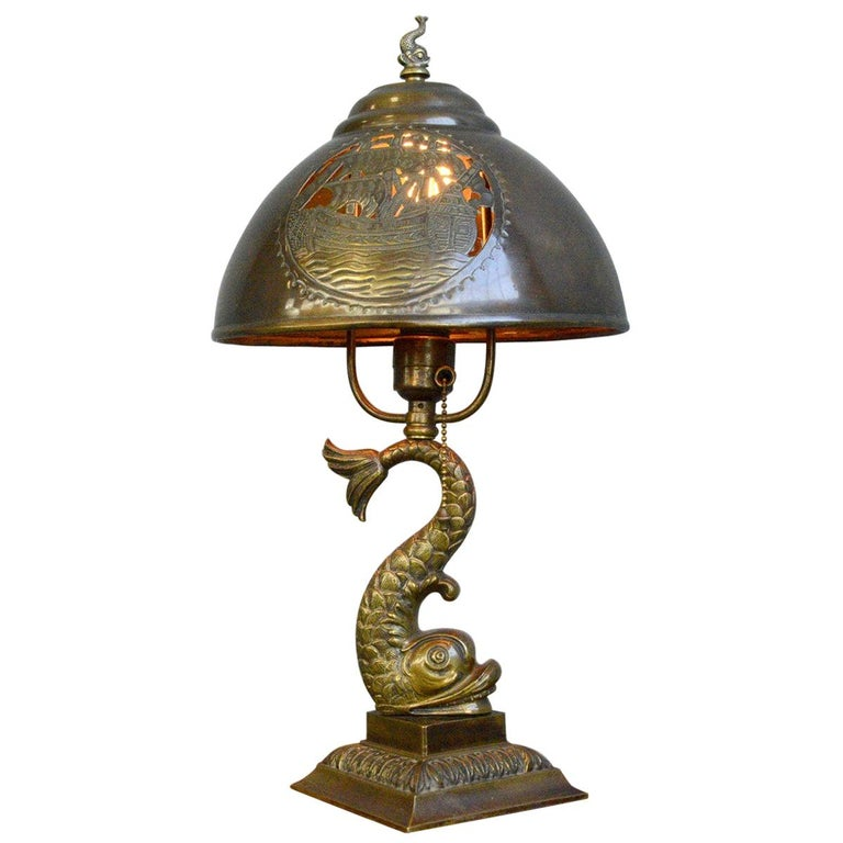 Arts & Crafts Table Lamp, circa 1890 For Sale
