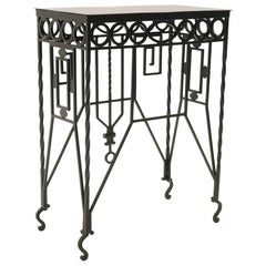 Arts & Crafts Wrought Iron Table, Use as Hall, Sofa, or Serving Table