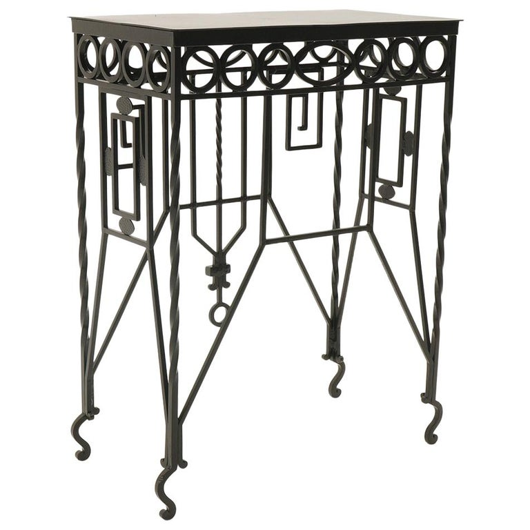 Arts & Crafts Wrought Iron Table, Use as Hall, Sofa, or Serving Table For Sale