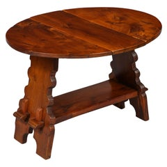 Arts & Crafts Yew Wood Butterfly Table
