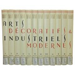 Arts Decoratifs and Industriels Modernes, Set of 12 Books 'ex library copy'