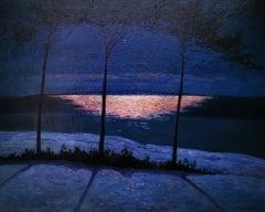 """Sandhamn, Near Stockholm"", Swedish evening landscape, oil on canvas"