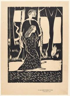 Alpinolo Porcella- Original Woodcut Print by Arturo Martini - Early 20th Century
