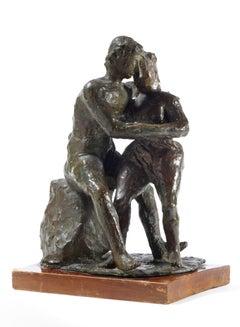 Gli Amanti (The Lovers), Arturo Martini (Bronze Sculpture Two Figures)