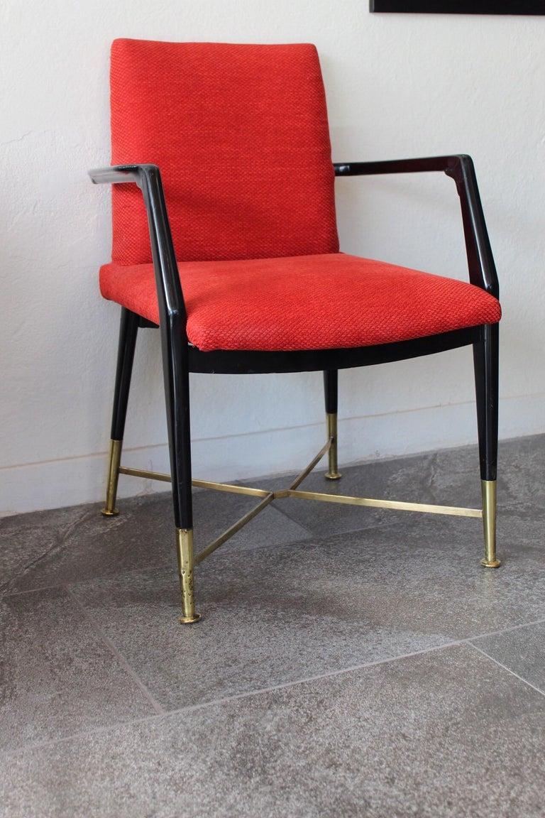 Arturo Pani dining set  Chairs measure: W 23 1/4 D 23 3/4 H 33 1/2 Table measure: Diameter 54 3/4.