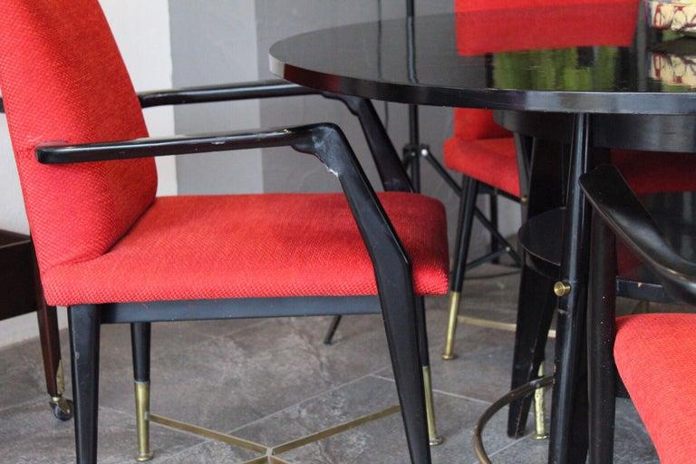 Brass Arturo Pani Dining Set For Sale