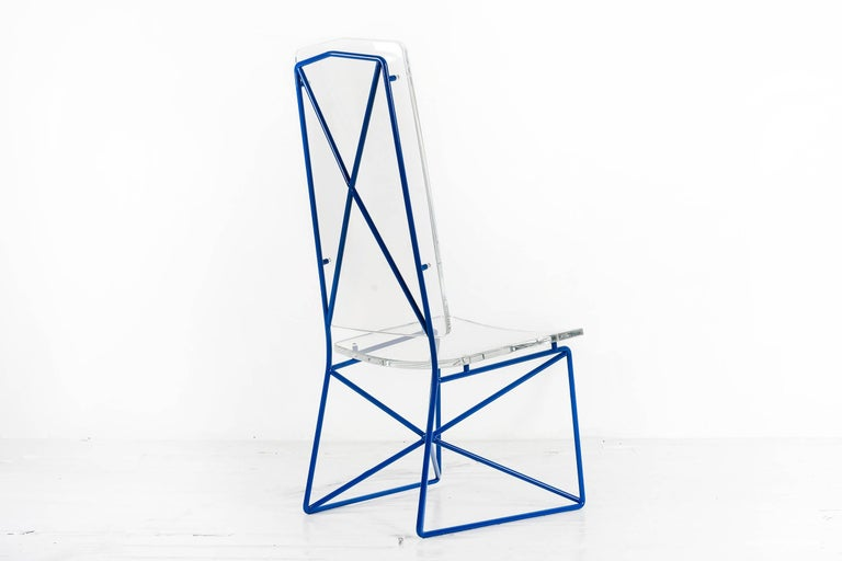 Mexican Arturo Pani Prototype Steel and Lucite Chairs For Sale