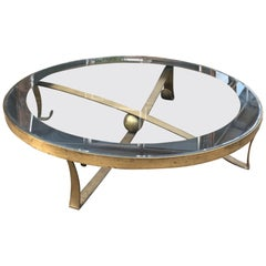 Arturo Pani Splendid Sculptural Round Bronze Cocktail Coffee Table 1950s Mexico