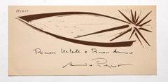 The Star - Original Woodcut by Arturo Peyrot - 1960s