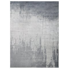 Hand Knotted silk rug - Arty Steel, Edition Bougainville