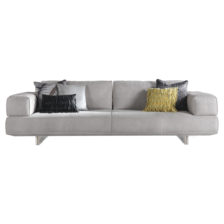 Aruba 3-Seater Sofa in Leather by Roberto Cavalli Home Interiors
