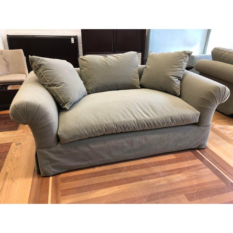 A. Rudin Rolled Arm Lounge Sofa For Sale 6